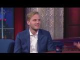 PewDiePie on The Late Show with stephen colbert\ Пьюдипай у стивена колберта на русском.