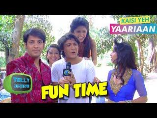 Dhruv, Aali 16 апеля- А lya, Cabi-r, Mukti & Navya Fun Chat   Behind The Scenes   Kaisi Ye h Yaariaan