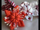 D.I.Y. Flor de tecido com miolo acochoado - HOW TO MAKE ROLLED RIBBON ROSES- fabric flowers