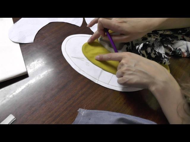 Как вшить воротник плосколежащий Обработка горловины с воротником