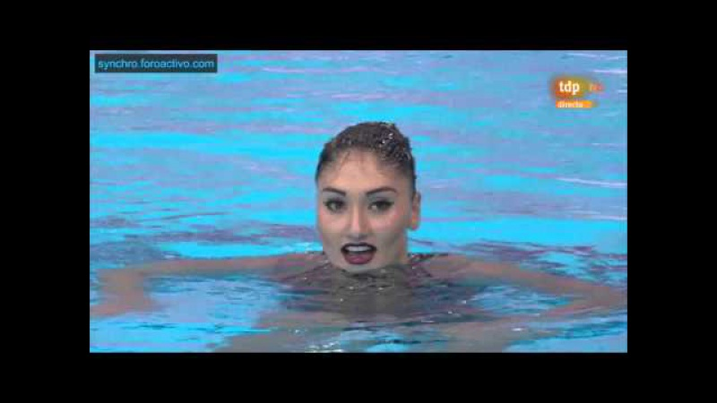 Evangelia Platanioti (GRE) Solo Free Preliminary London European Aquatics Championships 2016