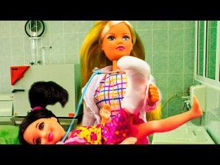 Барби Мультик с Куклами Игры для Девочек Лиза сломала ногу видео на русском языке