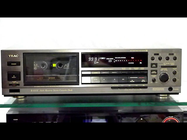 Teac R 919X 3 Head Autoreverse cassette deck calibration recording and playback