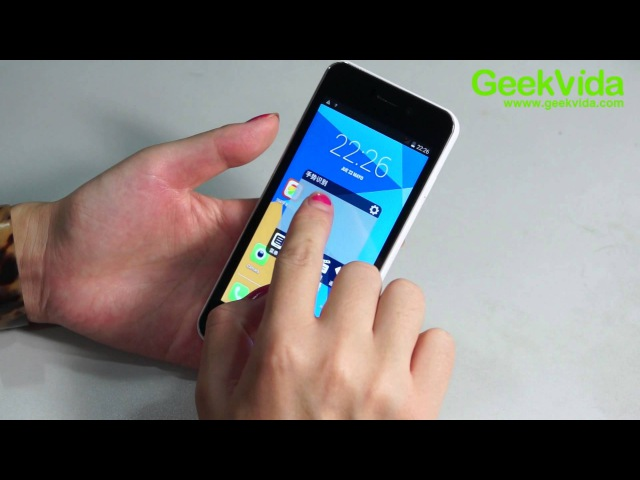 Unboxing Review DOOGEE VALENCIA DG800 Smartphone Tactil Trasero Creativo MTK6582 4.5 pulgadas