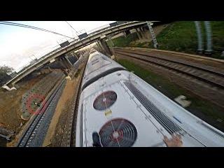 High-speed trainsurfing 230 km/h in Russia / Зацепинг на Сапсане МСК-СПБ
