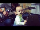 """Hanna Haŭryĺčyk on Instagram Ну і нашая галоўная зорка Dj Саламон файныгук маленькімузыка пераемнік зладзiлiканцэрт home art home youth youth baby guitar…"""""""