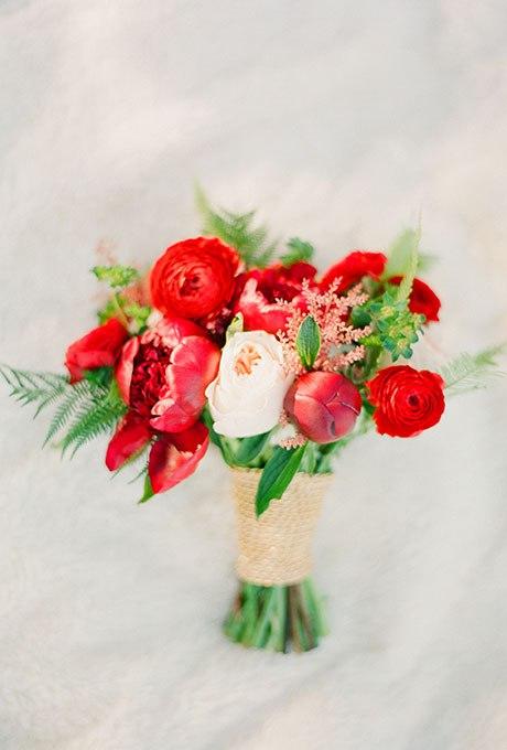 6YB HbxMs8E - Красные свадебные букеты (25 фото)