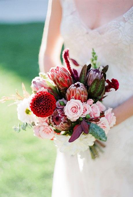 3lsgdfEdfRs - Красные свадебные букеты (25 фото)