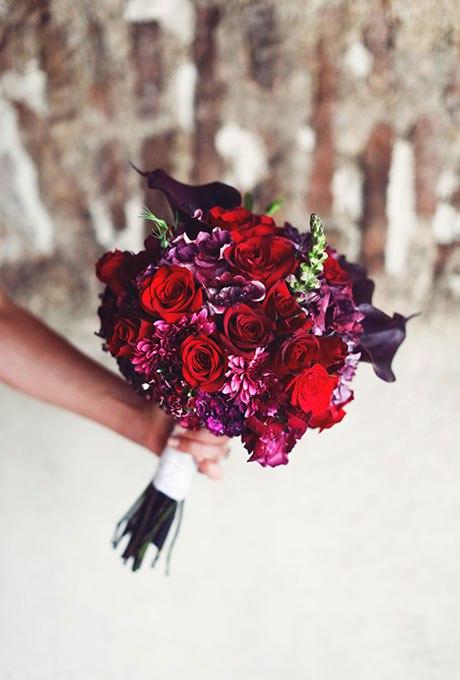 8TlgX DjG0I - Красные свадебные букеты (25 фото)