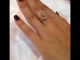 Кольцо красное золото 585 проба вставка бриллианты