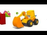 Экскаватор Мася и яйцо с сюрпризом. Мультик конструктор. Подъемный Кран