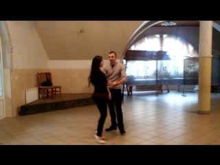 Вероніка та Михайло Габори репетиція в ресторані)))