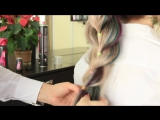 ОБЪЕМНАЯ КОСА с помощью резинок _ Прическа на длинные волосы