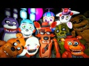 Five Nights at Freddys 4 Teaser Animatronics Reaction to Nightmare Foxy FNAF SFM