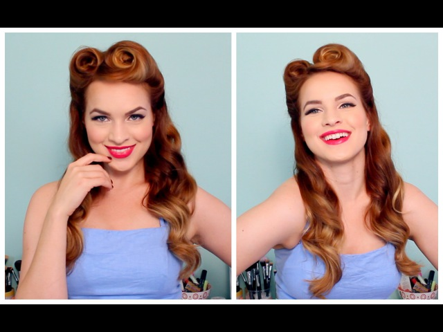 1940s 50s Pinup Hair and Makeup