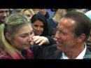 Maryana Naumova Meets Arnold Schwarzenegger and Gets Emotional