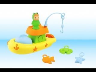 Малыши Cotoons – Лягушонок на лодочке. Рыбалка Лягушонка. Ловим в море рыбу, краба и морскую звезду