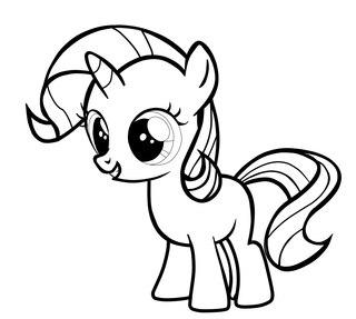 Раскраска маути пони