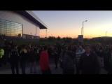 Fenerbahce fans in Glasgow
