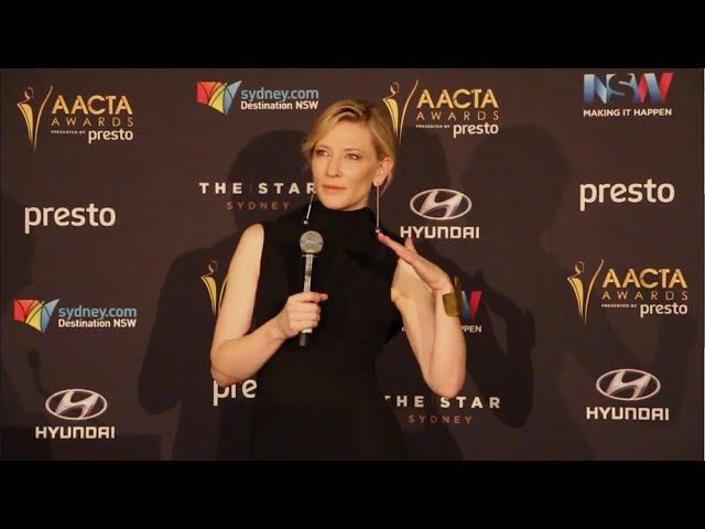 Cate Blanchett - AACTA Press Conference after winning Longford Lyell Award