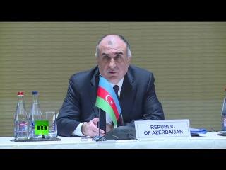 Главы МИД России, Ирана и Азербайджана проводят пресс-конференцию по итогам переговоров