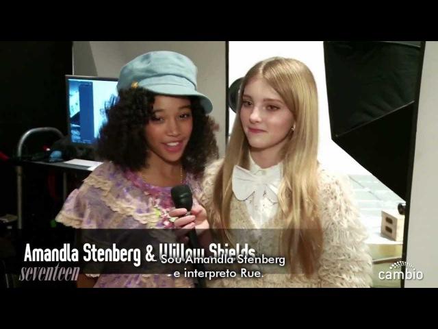 Meninas de Jogos Vorazesem sessão de moda da Seventeen [LEGENDADO]