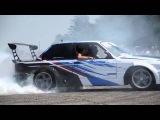 BMW 3series e30 coupe v8 burnout|БМВ Е30 v8 жжет резину