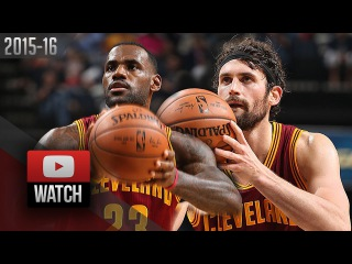 Kevin Love & LeBron James Full Highlights at Grizzlies (2015.10.28) - SICK!