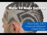 How to hair tattoo - clipper design with Salon Gents 2 & 3