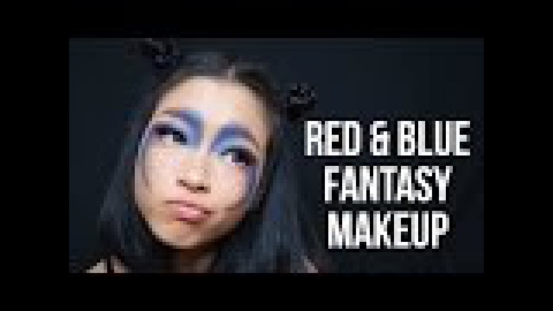 Blue Red Fantasy Makeup | Marcella Febrianne