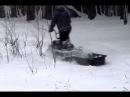 Снег по пояс, а мы едем. Мини-снегоход Рыбак 2МР.