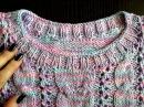 Горловина спицами МК Часть 2 Обвязываем горловину для топа и свитера