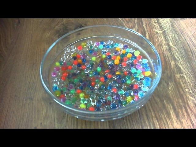 Гидрогель (аквагрунт) полимерные шарики разных цветов