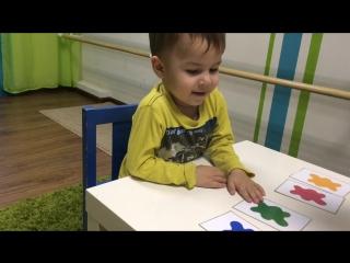 Аскар 2 года квартальное тестирование английский детский сад Baby Way октябрь 2015