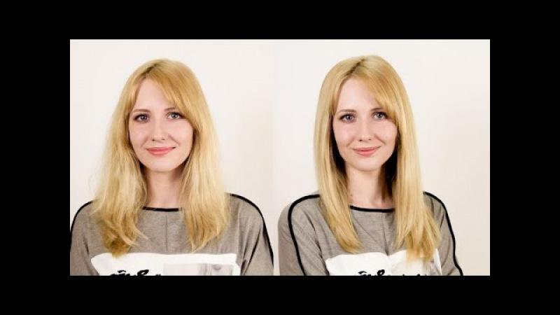 Как правильно выпрямлять волосы утюжком. How to Straighten Your Hair with a Hair Straightener
