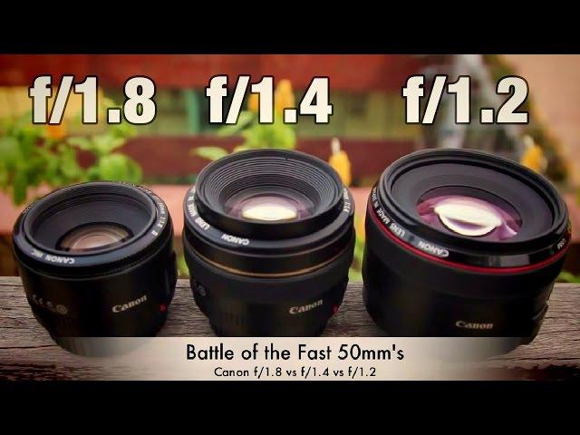 Быстрые 50-миллиметровые - Canon f1.8 против f1.4 против f1.2