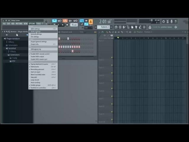 Видео урок как работать на FL Studio 12 (lesson 1 - Интерфейс)