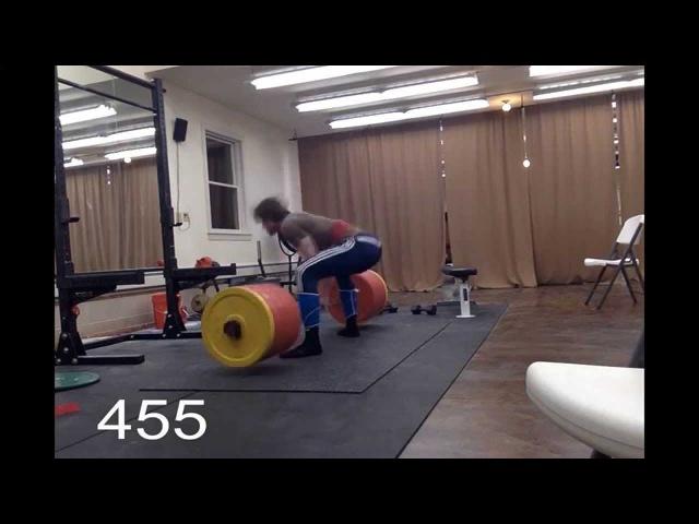 David Laid 16 Year Old 455lb Deadlift @185lb
