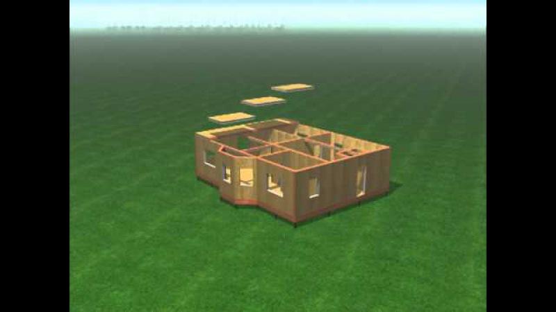Процесс строительства дома по канадской технологии