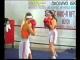 very rare dww female boxing match - Edit vs Andrea