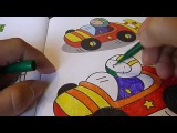 Гоночная машина Раскраска онлайн, рисуем гоночную машину учим цвета, для детей