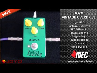 JOYO JF-01 Vintage Overdrive Guitar Effect with True Bypass