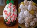 Пасхальные яйца из ниток своими руками