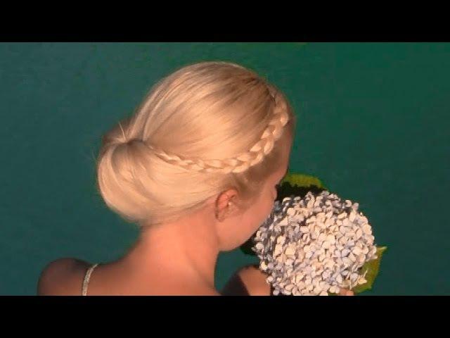 Праздничная/вечерняя/свадебная причёска «Гибсон» своими руками на средние/длинные волосы