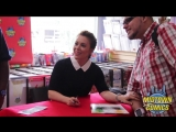 Alyssa Milano Signing Hacktivist at Midtown Comics Downtown