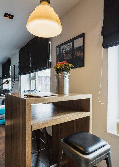 Интерьер квартиры-студии 40 м в Москве.