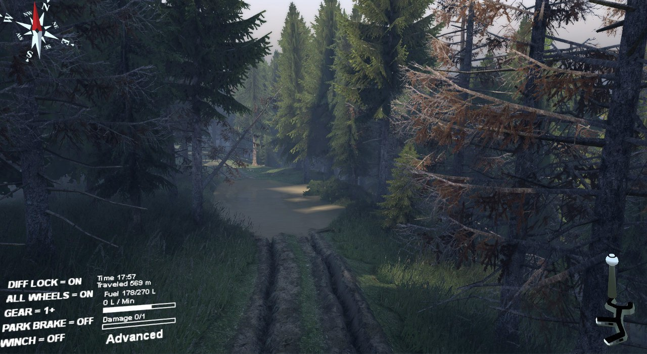 """Карта """"Сосновый бор"""" для 23.10.15 для Spintires - Скриншот 2"""