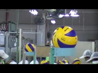 Как делают волейбольные мячи mikasa