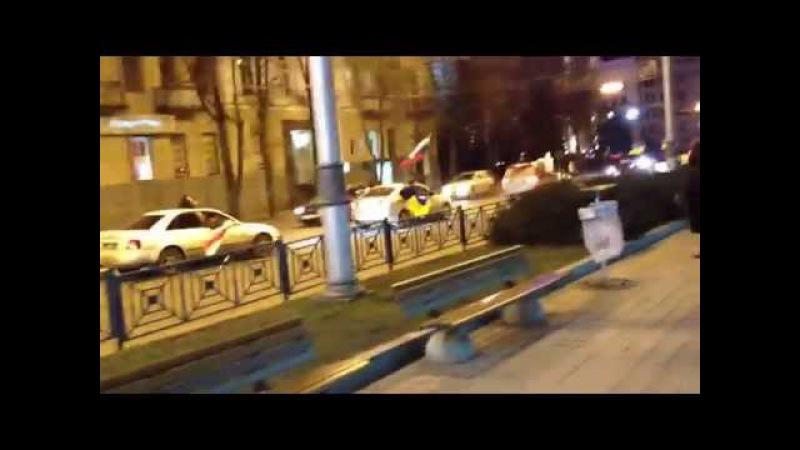 25 февраля 2014 Харьков Вставай Авто Антимайдан Флаги России