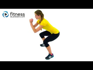 37 Minute Bodyweight Cardio Training + Lower Body Strength - Butt & Thigh Workout
